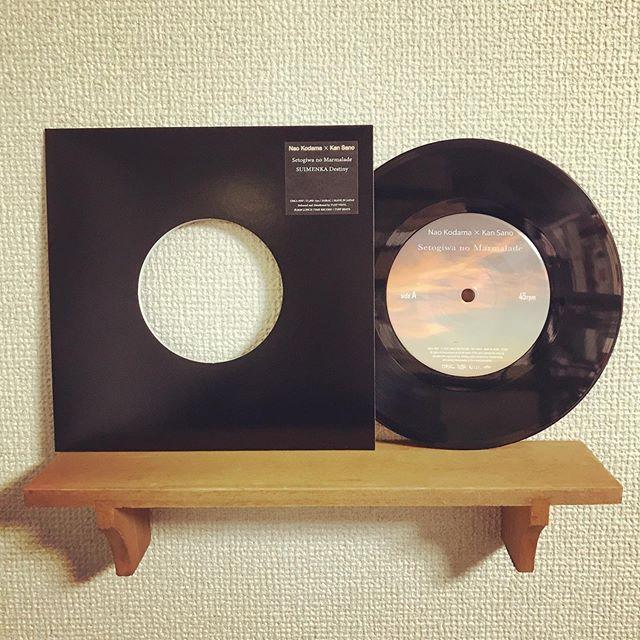 Made in TUFF VINYL「Nao Kodama × Kan Sano / 瀬戸際のマーマレード | SUIMENKA Destiny」7inch 52g スモールホール 国内プレス/ 海外レーベル / ブラックディスコスリーブ / ジャケットステッカー支給 / 蓋なしPP封入 / Mixers' Labカッティング.Make Neo Flesh Vinyl!!!.#Tuffvinyl #vinylrecords #vinylrecord #vinylcommunity #myvinylcollection #レコードのある生活 #レコードコレクション #レコード #レコードプレイヤー #レコード好き #レコード女子 #児玉奈央 #kodamanao #kansano  #vinylcollection #アナログ盤 #アナログレコード #レコードジャケット #音楽のある生活 #バイナル #7インチレコード #12インチレコード #レコードコレクター