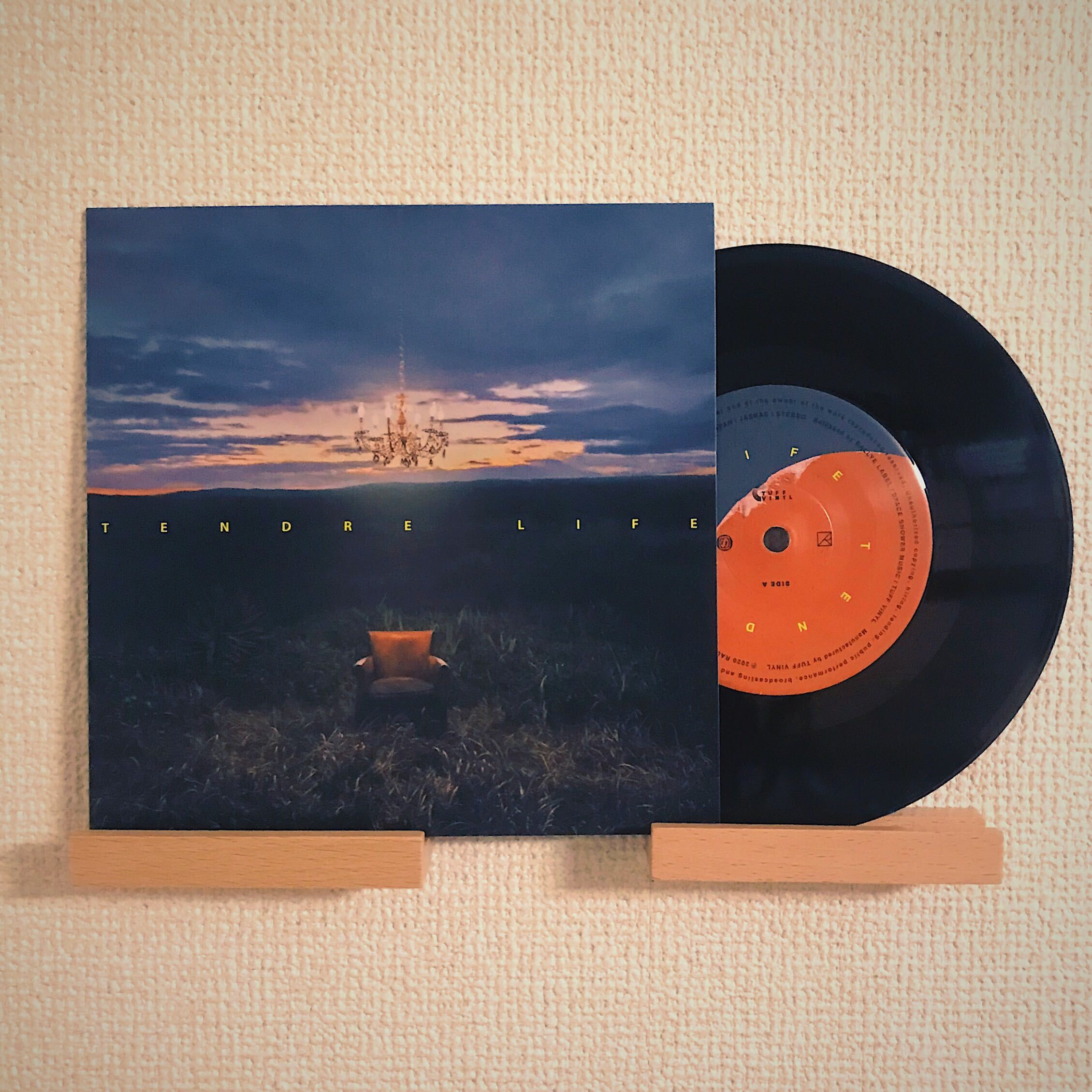 Pressed by TUFF VINYL 「TENDRE / LIFE・HOPE」7inch 52g
